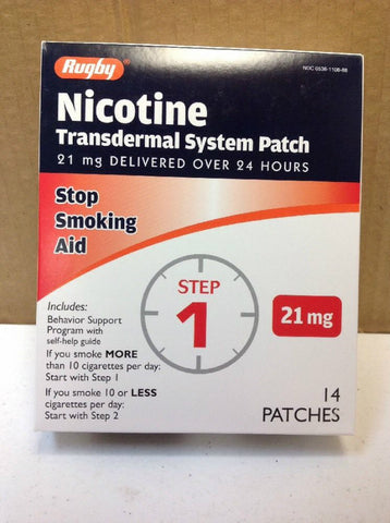 Rugby Nicotine Transdermal System Patch, Step 1, 14ct 305361108885A2398
