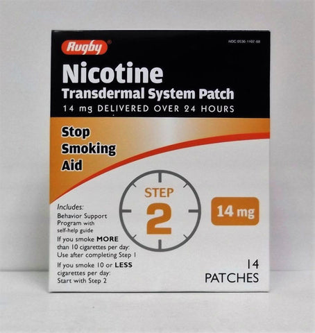 Rugby Nicotine Transdermal System Patch, Step 2, 14ct 305361107888A1631