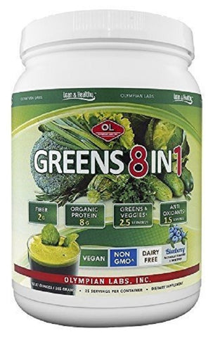 Olympian Labs Greens 8 in 1 Protein Powder, 12.87oz 710013032669J1038