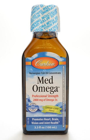 Med Omega Fish Oil, Lemon Lime Flavor, 3.3oz 088395017018S1995
