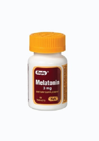 Rugby Melatonin Tablets, 3mg, 60ct 005366412689J108