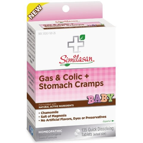 Similasan Baby Gas & Colic + Stomach Cramps, 135ct 094841820019A512
