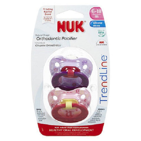 NUK Orthodontic Pacifiers, 6-18months, 8 Total 885131628107A1492