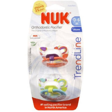 NUK Orthodontic Pacifiers, 0-6months, 8 Total 885131628138A1492