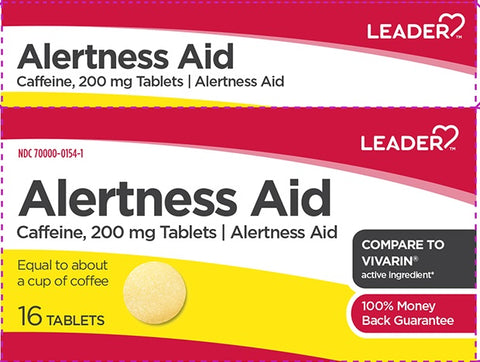Leader Alertness Aid Tablets, 200mg, 16ct 096295129878A143