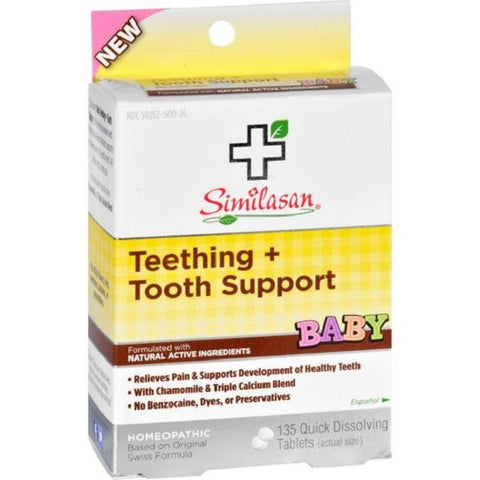 Similasan Baby Teething + Tooth Support Tablets, 135ct 094841820002G390