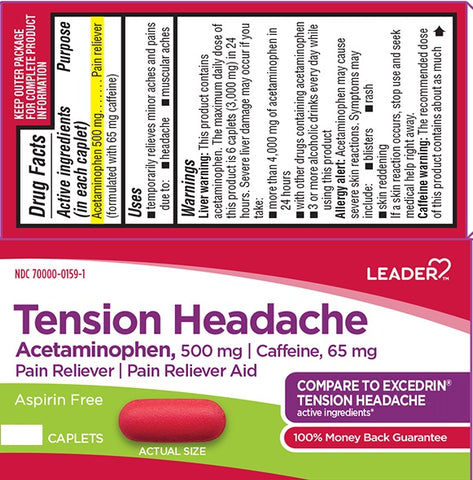 Leader Tension Headache Caplets, 100ct 096295130294A325