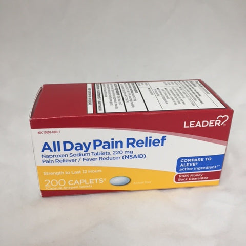 Leader All Day Pain Relief Caplets, 220mg, 200ct 096295130522A745