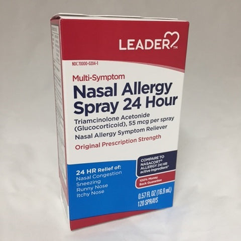 Leader Nasal Allergy Spray, Triamcinolone, 16.9ml 096295130539S1115