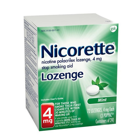 Nicorette Lozenges, Mint Flavored, 4mg, 72ct 307661500239C3654