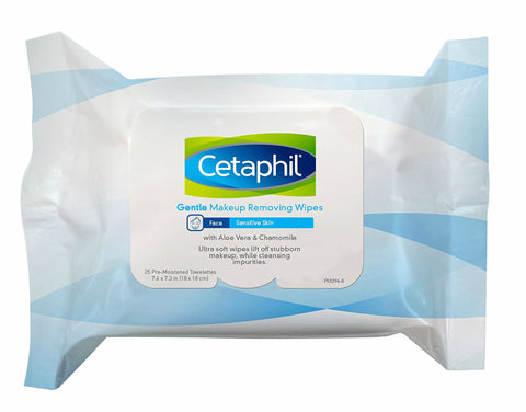 Cetaphil Gentle Makeup Remover Wipes, Sensitive, 25ct 302993889250A560