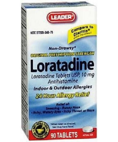 Leader Allergy Relief Loratadine 10mg Tablets, 90ct 096295130737S635