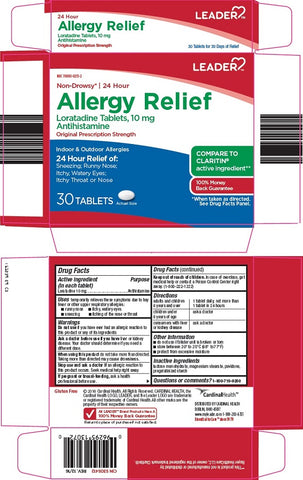 Leader 24Hour Non-Drowsy Allergy Relief Tablets, 10ct 096295130744S210