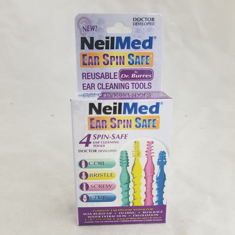 NeilMed Ear Spin Safe Reusable Ear Cleaning Tools, 4ct 705928604049A319