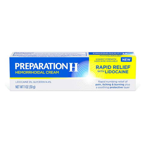 Preparation H Rapid Relief with Lidocaine, 1oz 305732842103T1800