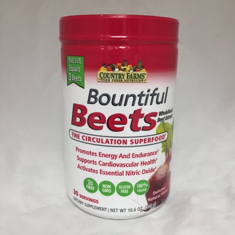 Country Farms Bountiful 300gm Beets Powder, 1ct 035046098308S1079