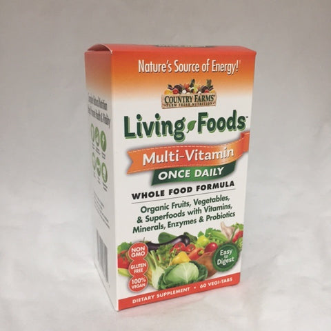 Country Farms Living Food Multi-Vitamin Vegi-Tab, 60ct 035046097059S779