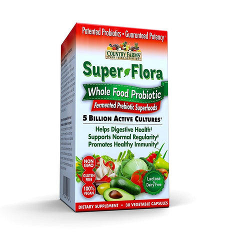 Country Farms Super Flora Veg. Capsules, 30ct 035046095666A899