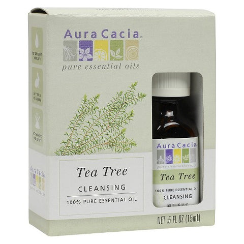 Aura Cacia Tea Tree Essential Oil Blend, 0.5oz 051381991968A450
