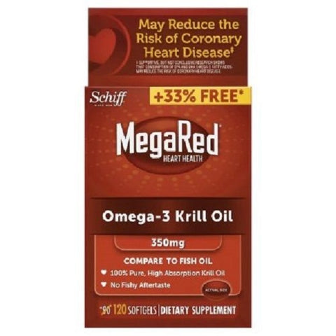 MegaRed Omega-3 Krill Oil Softgels, 350mg, 120ct 020525953308A3077
