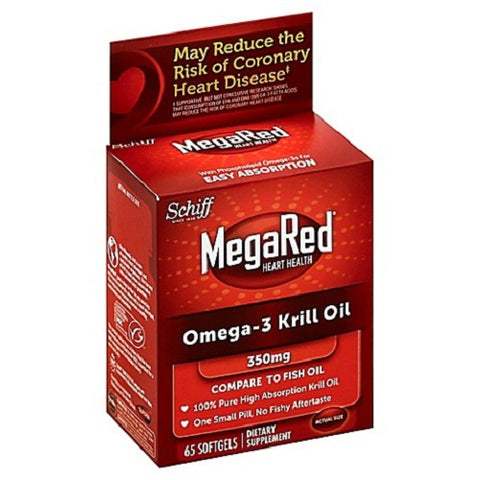 Schiff MegaRed Omega-3, 350mg, Softgels,60ct 020525104342C2442