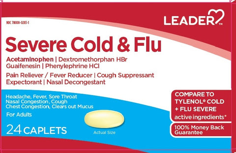 Leader Severe Cold and Flu Caplets, 24ct 096295131888A241