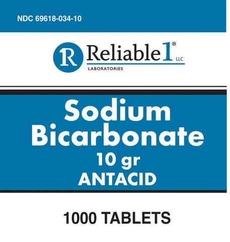 Reliable Labs Sodium Bicarbonate Tablets, 1000ct 369618034105J1278