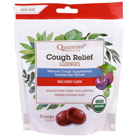 Quantum Health Cough Relief Lozenges, Cherry, 18ct 046985211901A318