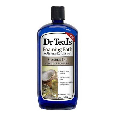 Dr. Teal's Foaming Bath Coconut Oil, 34oz 811068015017C382