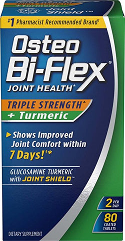 Osteo Bi-Flex Joint Health+Turmeric Tablets, 80ct 030768679309A1936