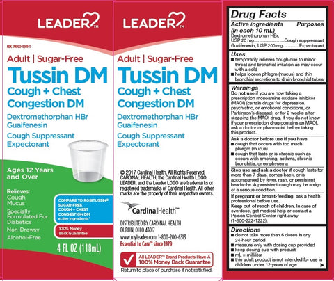 Leader Tussin Cough+Chest Congestion, Sugar Free, 4oz 096295132106A258