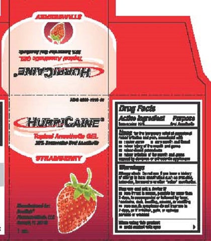 Hurricaine Topical Anesthetic Gel, Strawberry, 1oz 723797016312A757