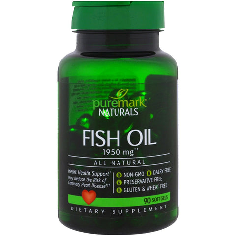 Puremark Naturals Fish Oil Softgels, 1950mg, 90ct 740985252710A1005