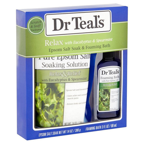 Dr. Teal's Relax with Eucalyptus & Spearmint Bath Set 811068015369A448