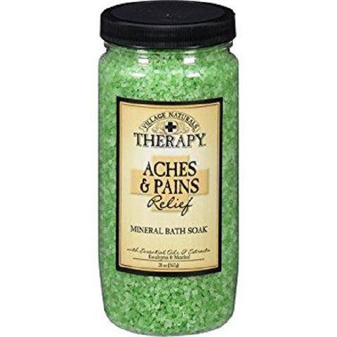 Village Naturals Aches + Pain Relief Bath Soak. 20oz 735303504206S448