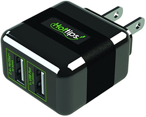 Hot Tips Elite Dual USB Wall Charger, 1ct 024291248446A979