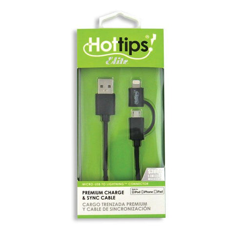 Hot Tips Elite Premium Charge & Sync Cable, 1ct 024291248453A1196