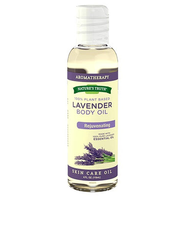 Nature's Truth Lavender Massage Base Oil, 4oz 840093107947J407