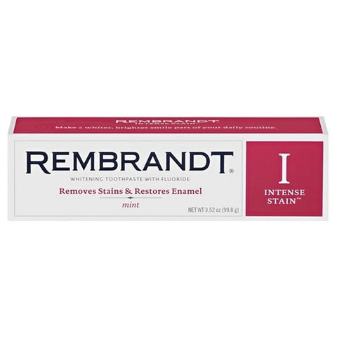 Rembrandt Intense Stain Toothpaste, Mint, 3.52oz 049336498280S499