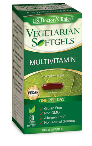 US Doctors' Clinical Multivitamin Veg. Softgels, 60ct 851743006305A1256