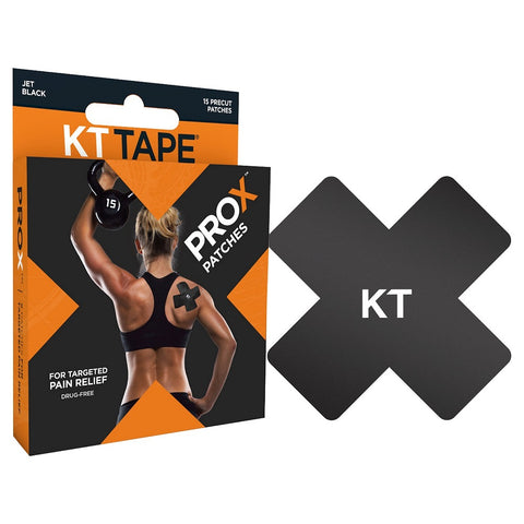 KT Tape PROX Pre Cut Patches, Black, 15ct 814179020505A1163