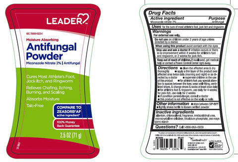 Leader Moisture Absorbing Antifungal Powder, 2.5oz 096295132762A270