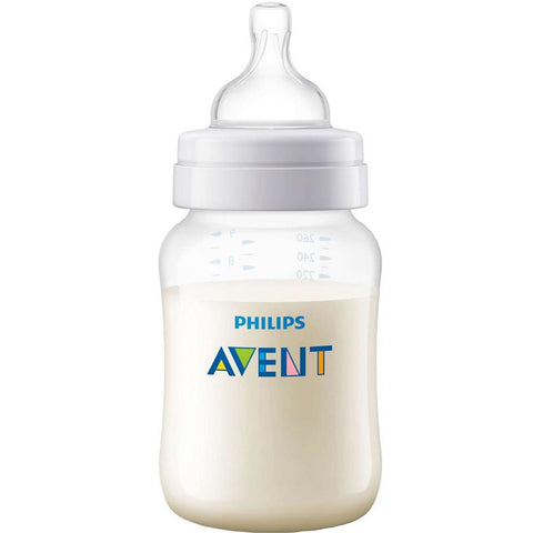 Phillips Avent Anti-Colic Baby Bottle, Clear, 9oz 075020062079A424