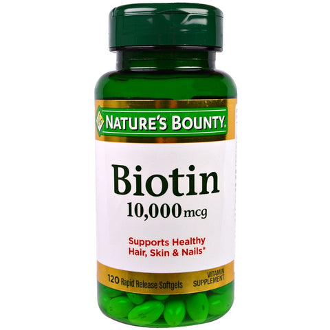 Nature's Bounty Biotin Rapid Release Softgels, 120ct 074312516979A1048