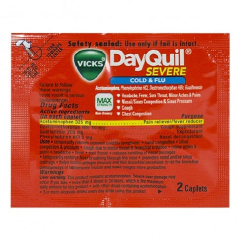 DayQuil Severe Cold & Flu Caps, Travel Size, 2ctX12ct 024291261957A851
