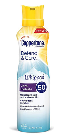 Coppertone Defend & Care Whipped Ultra Hydrate 50, 5oz 041100007094A904