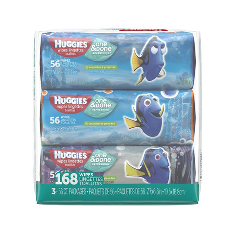 Huggies One and Done Wipes, Finding Nemo, 168ct 036000318616A634