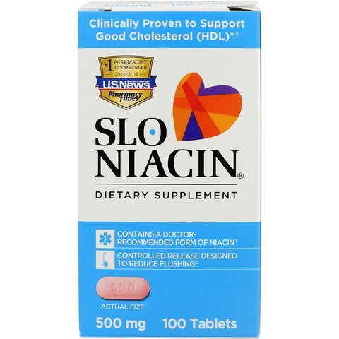 Magna Slo-Niacin Tablets, 500mg, 100ct 371279500103A1214