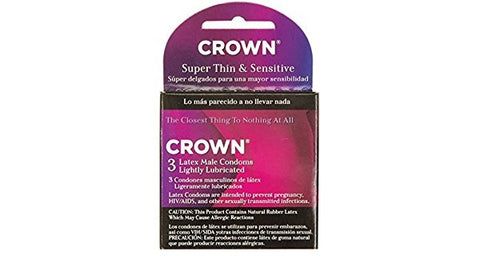 Beyond Seven Crown Super Thin & Sensitive Condoms, 3ct 028373200032S131