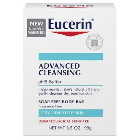 Eucerin Advanced Cleaning Soap Free Body Bar, 3.5oz 072140022075A285